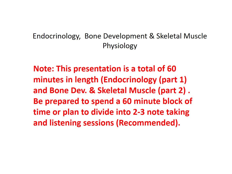 Week 10: Part 1 - Endocrinology Development