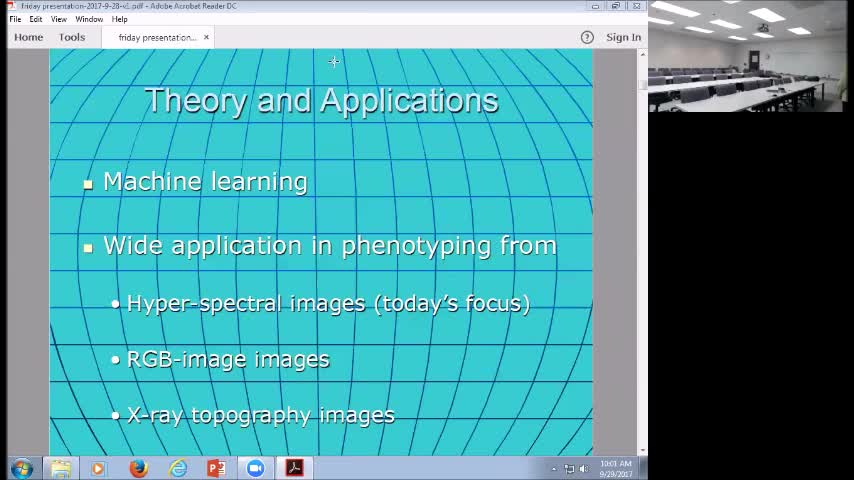 """""""Machine Learning Methods in Plant Phenotyping"""""""