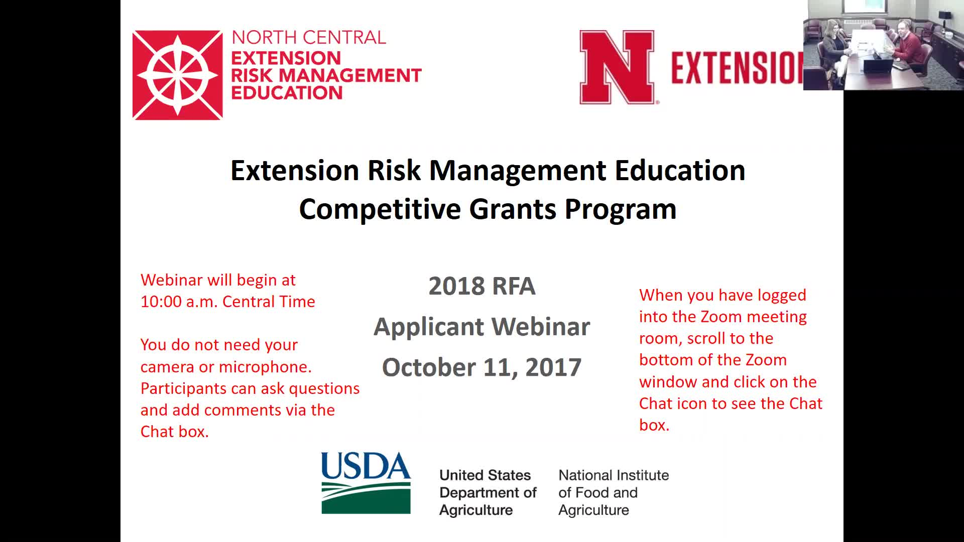 North Central Extension Risk Management Education Center 2018 Applicant Training