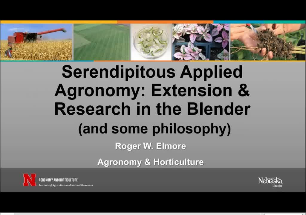 Serendipitous applied agronomy: Extension and research in the blender (and some philosophy)