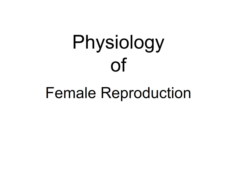 Week 12: Female Reproduction - Dr. Brink