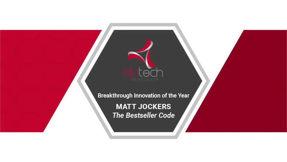 Breakthrough Innovation of the Year – Matt Jockers – Bestseller Code