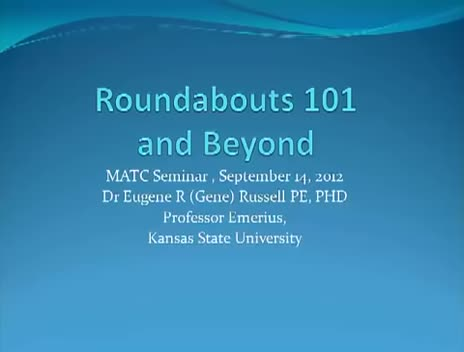 2012 MATC Fall Lecture Series: Eugene Russell
