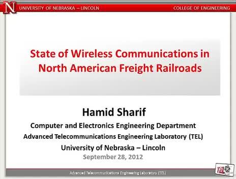 2012 MATC Fall Lecture Series: Hamid Sharif