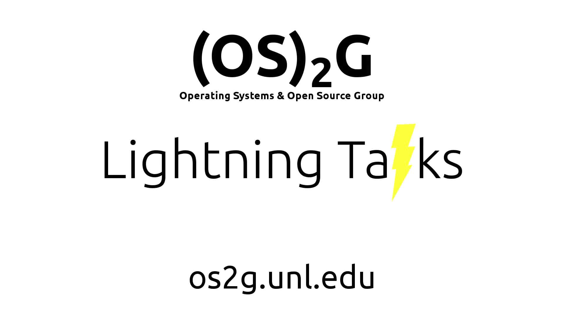 2017-11-29 Lightning Talks