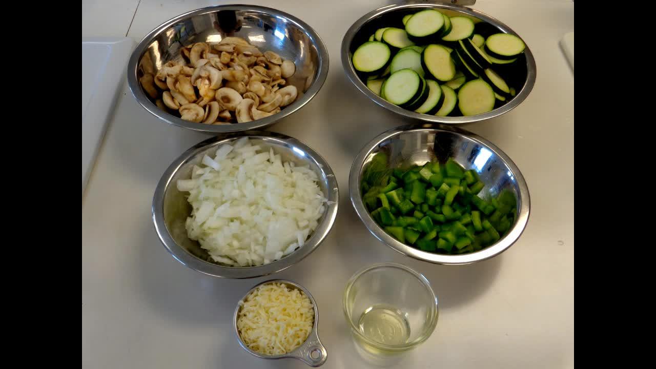 Skillet Zucchini and Mushrooms