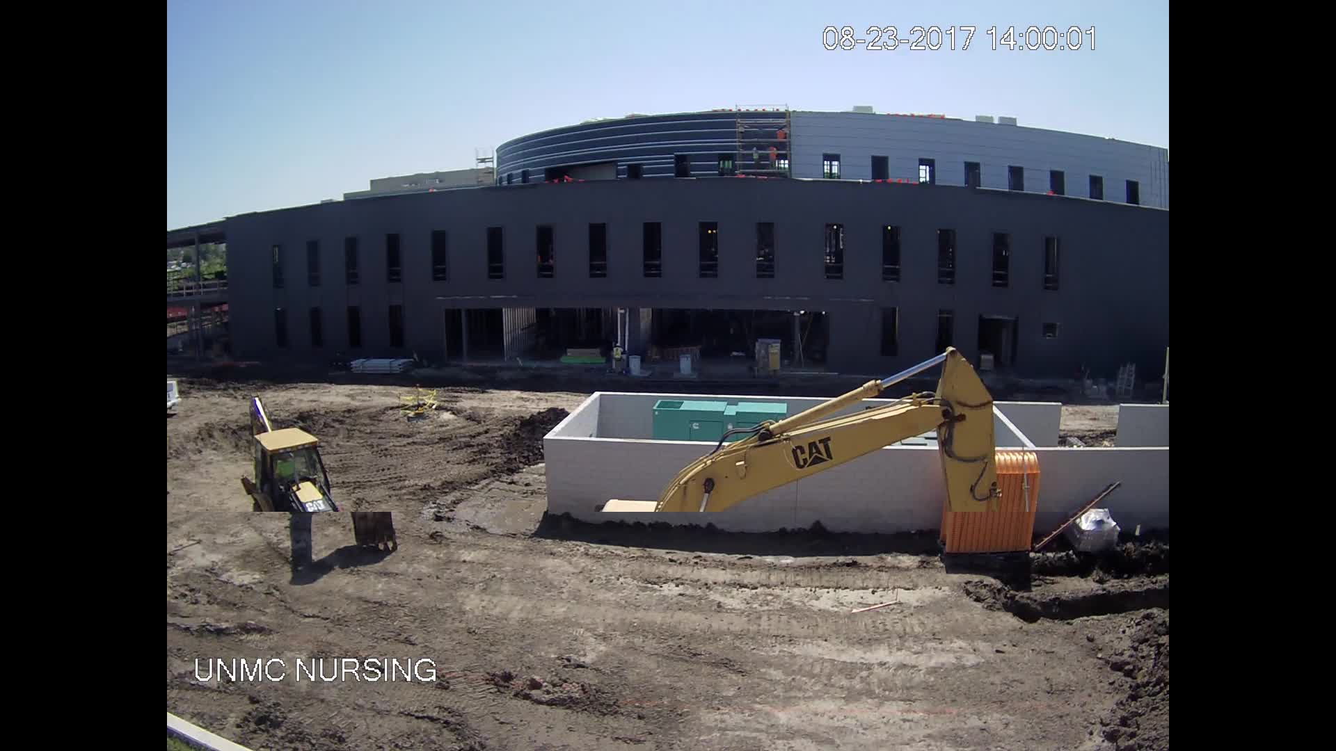 UNMC Nursing Construction Site: Constructing the Rain Water Retention Basin