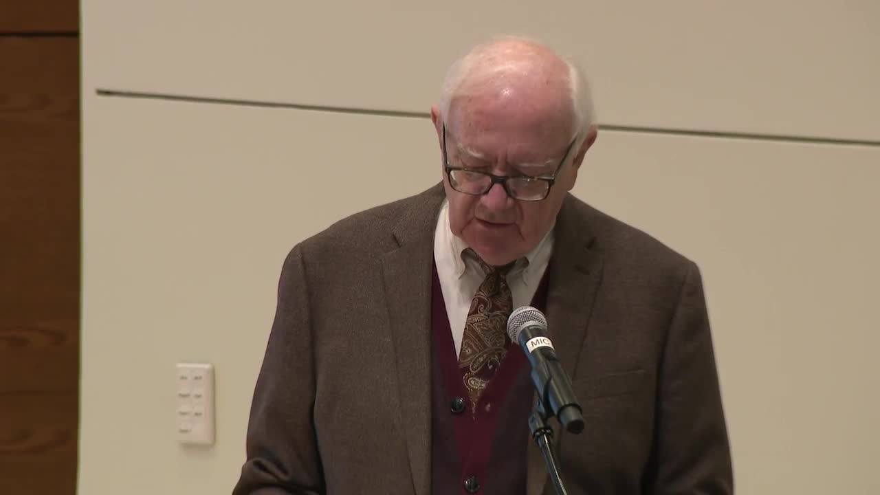 Dr. Bob Wilhelm Public Presentation