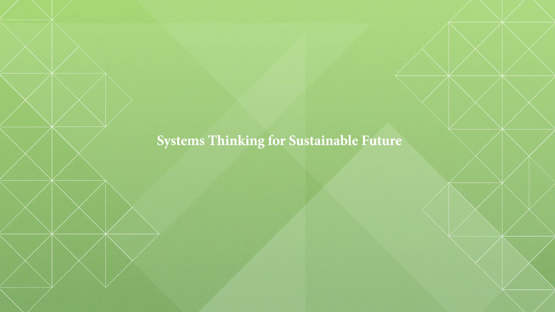 CA Intro: Systems Thinking