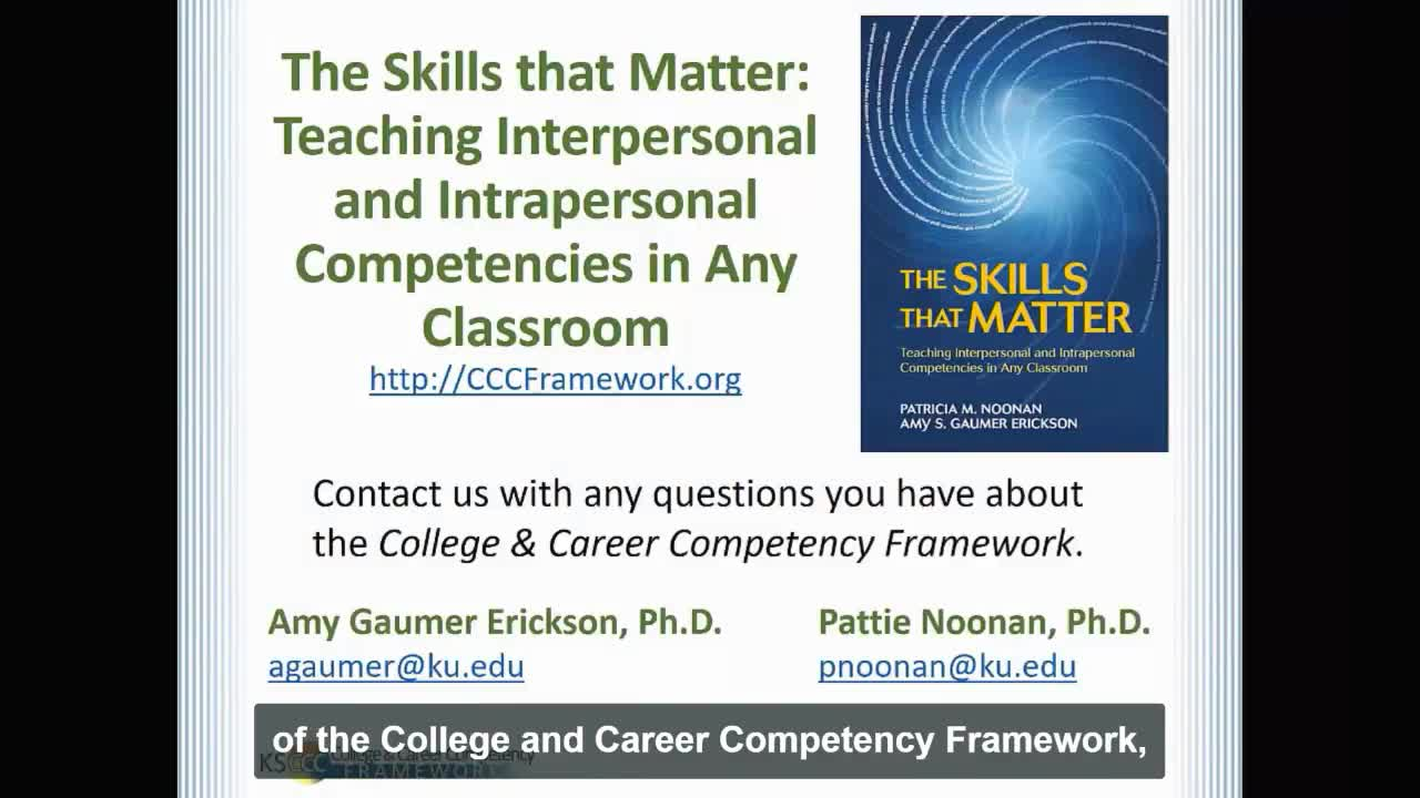 Teaching Skills that Matter: Teaching Interpersonal and Intrapersonal Competencies in Any Classroom