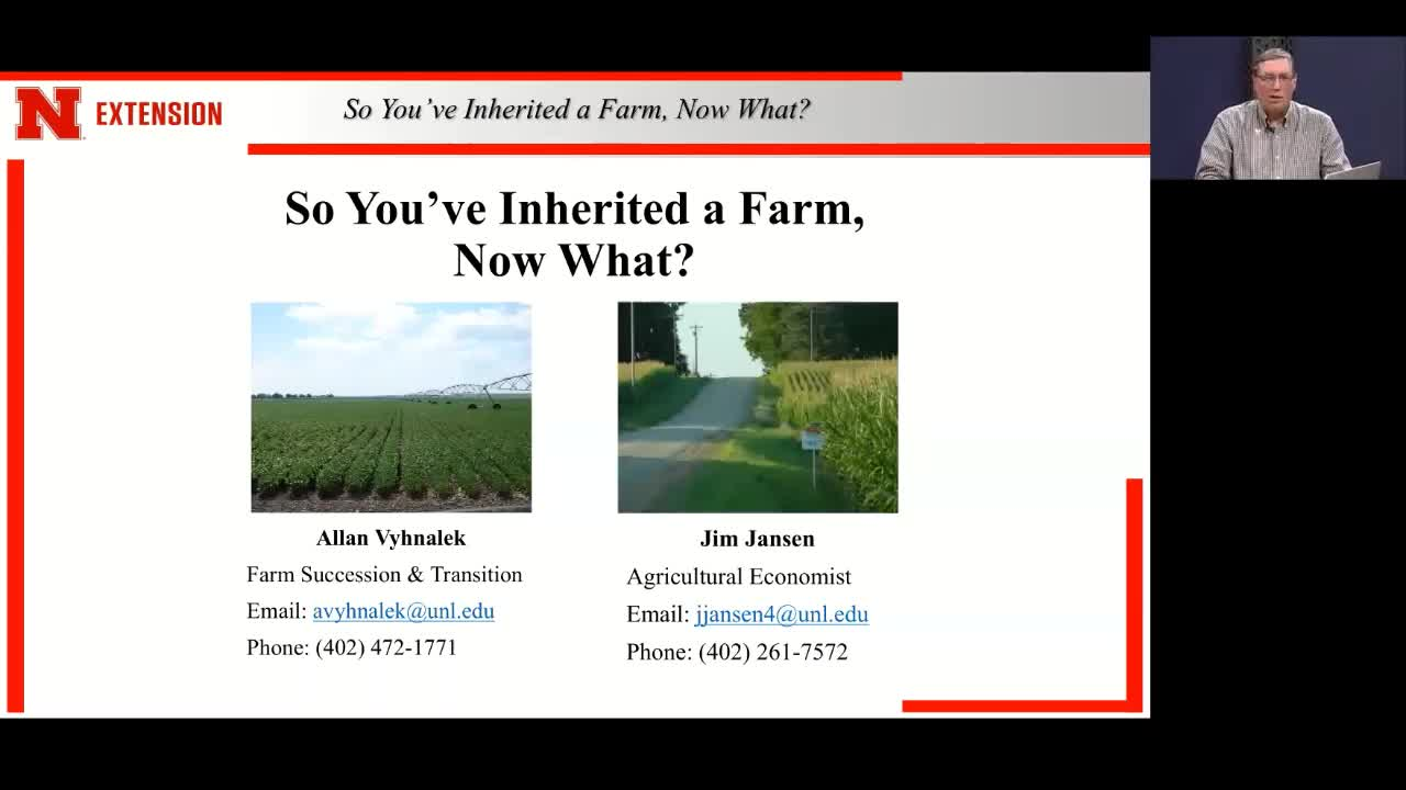 So You've Inherited a Farm, Now What? Farm Succession Webinar Part Two