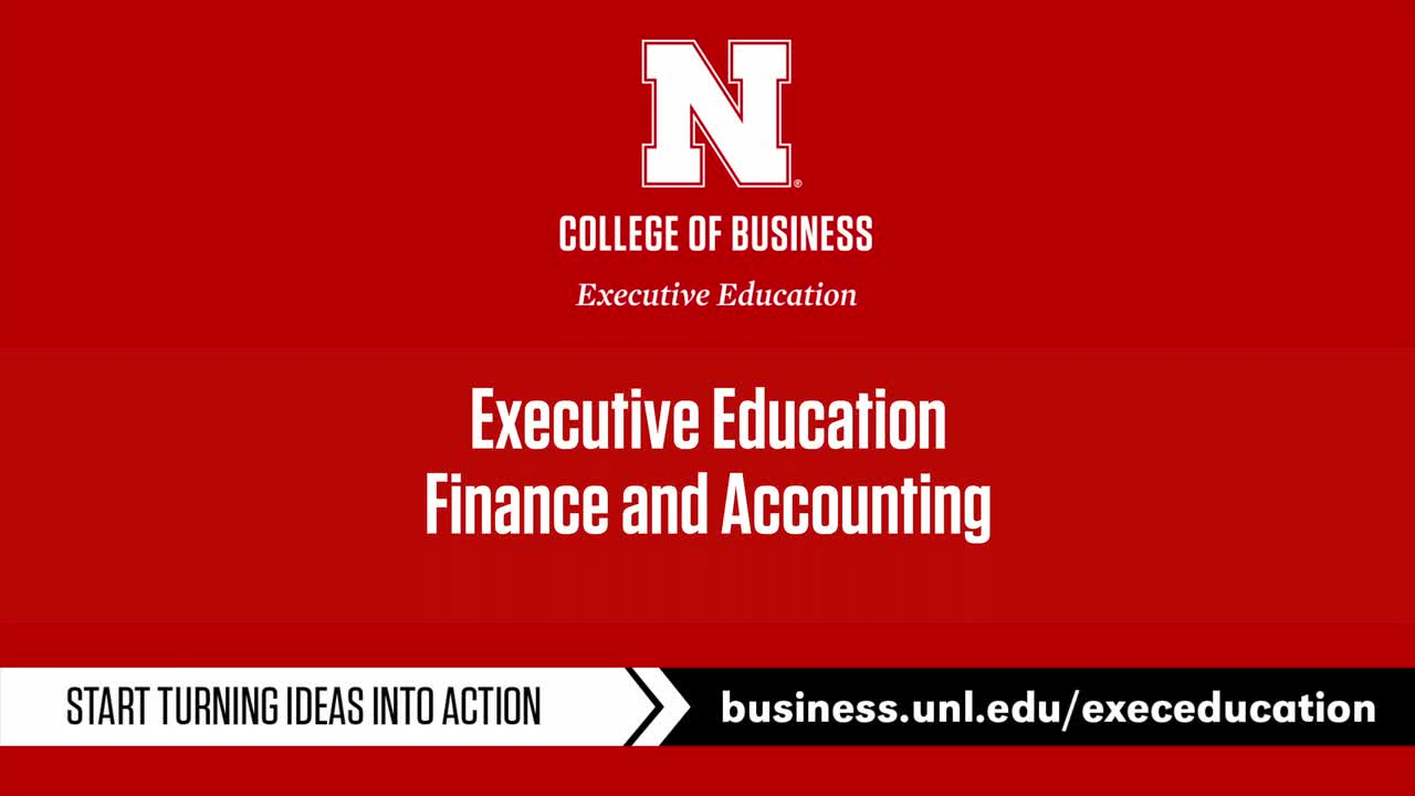 Executive Education: Finance and Accounting