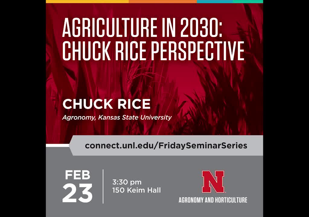 Agriculture in 2030: Chuck Rice perspective
