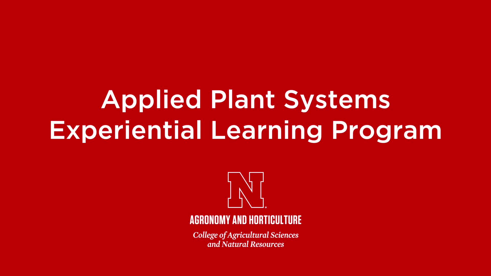 Applied Plant Systems 2018