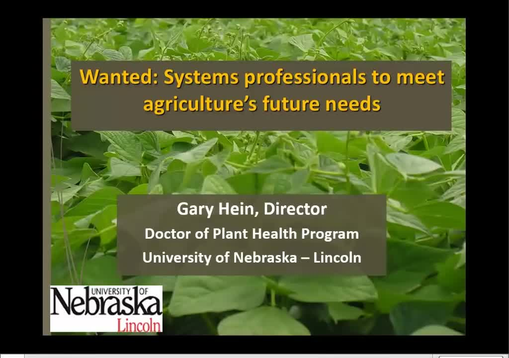 Wanted: Systems professionals to meet agriculture's future needs
