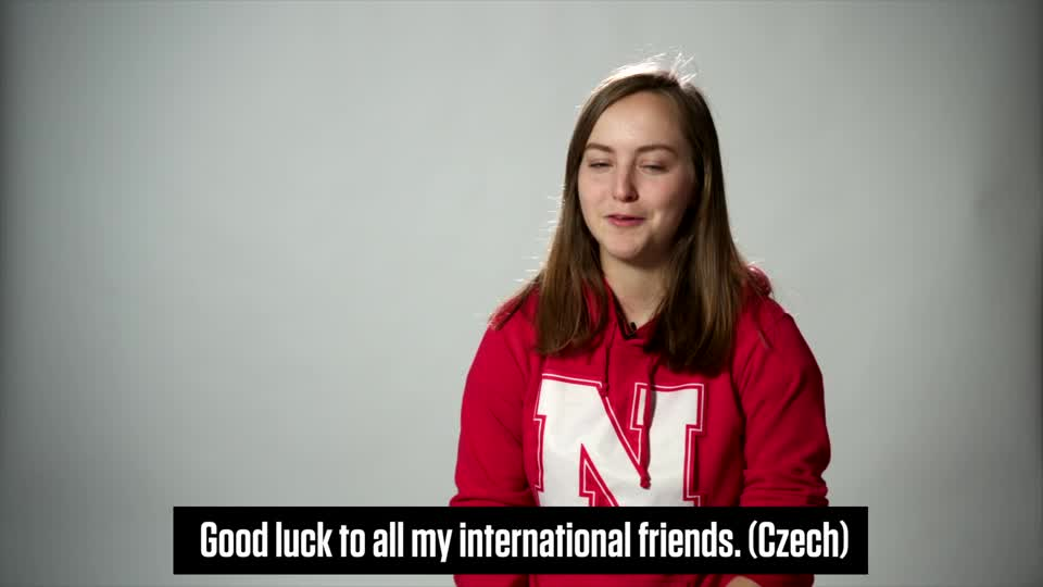 Congratulations from Nebraska's International Students