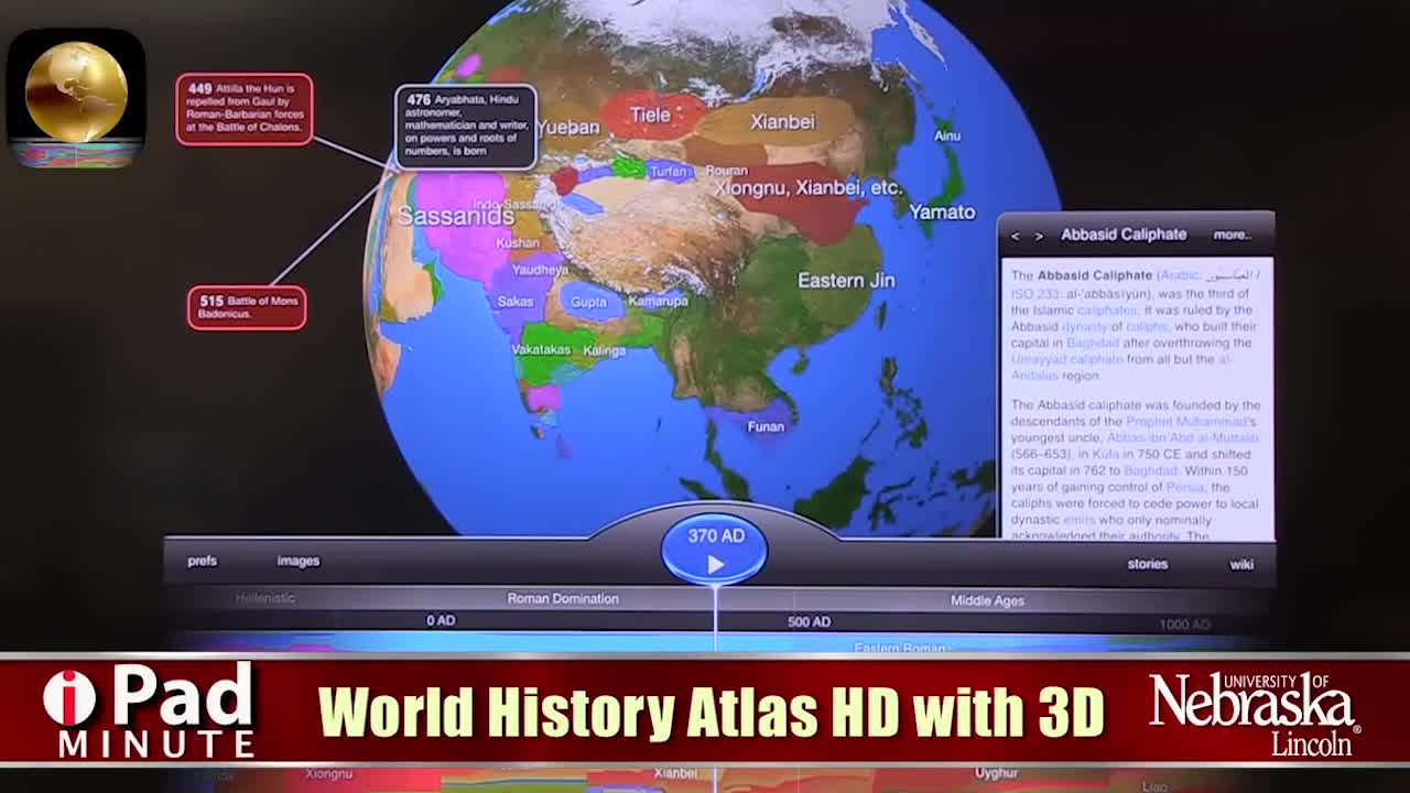 Tech Edge, Mobile Learning In The Classroom - iPad Minute, World History Atlas HD with 3D