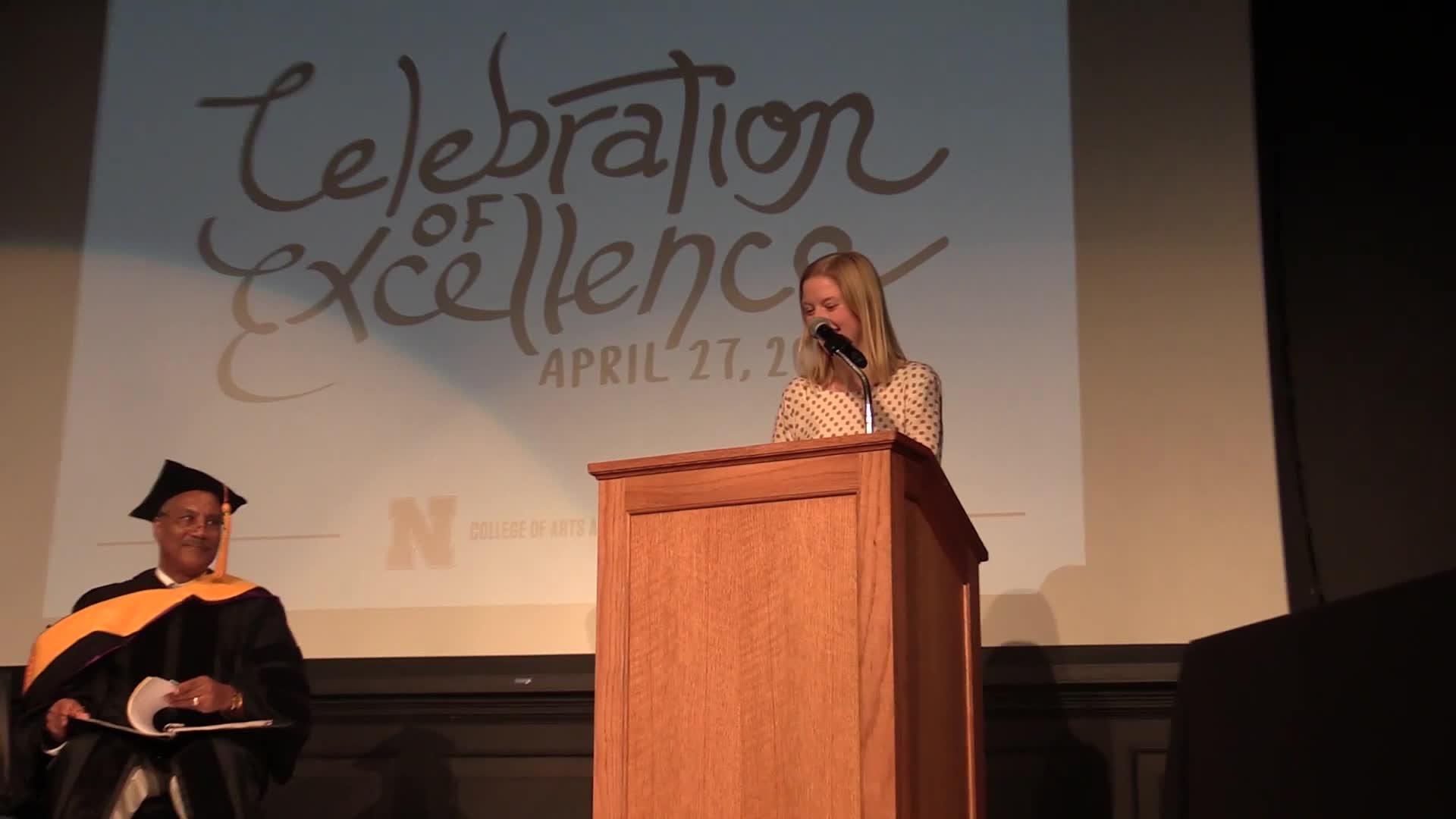 Mackenzie Strehle's senior reflection at Celebration of Excellence 2018