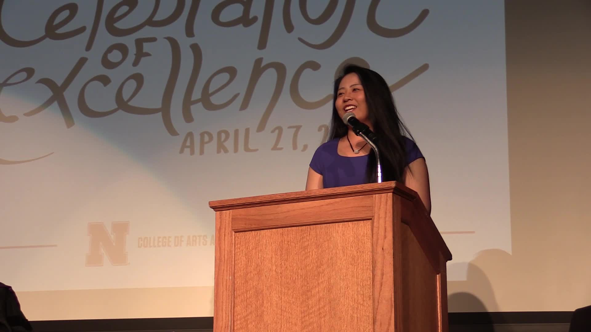 Xinyue Wang's senior reflection at Celebration of Excellence 2018