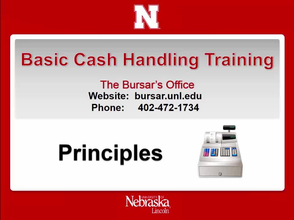 Cash Handling 3:  Principles