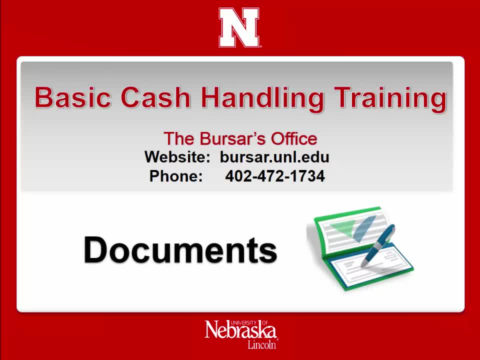 Cash Handling 4: Documents