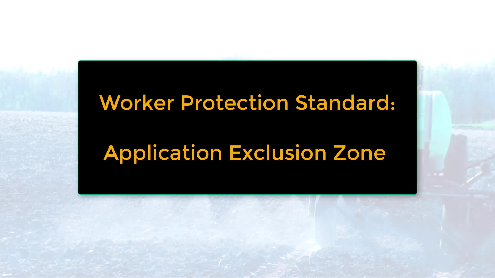 Application Exclusion Zone