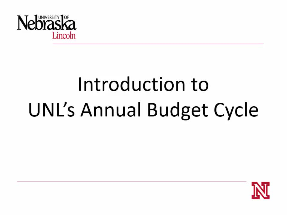 Budget: Introduction to Annual Budget Cycle