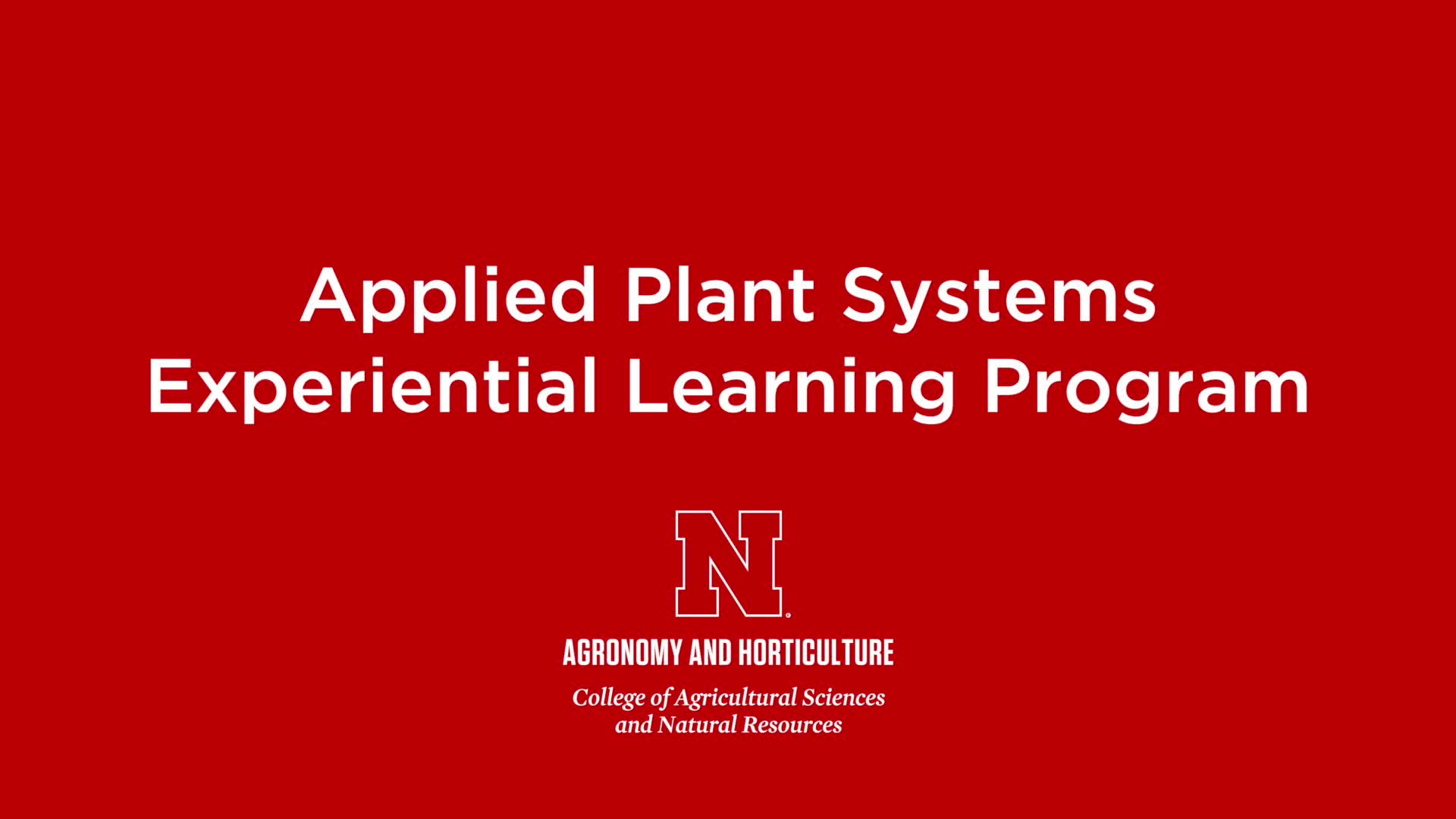 Applied Plant Systems 2018 – 3min.