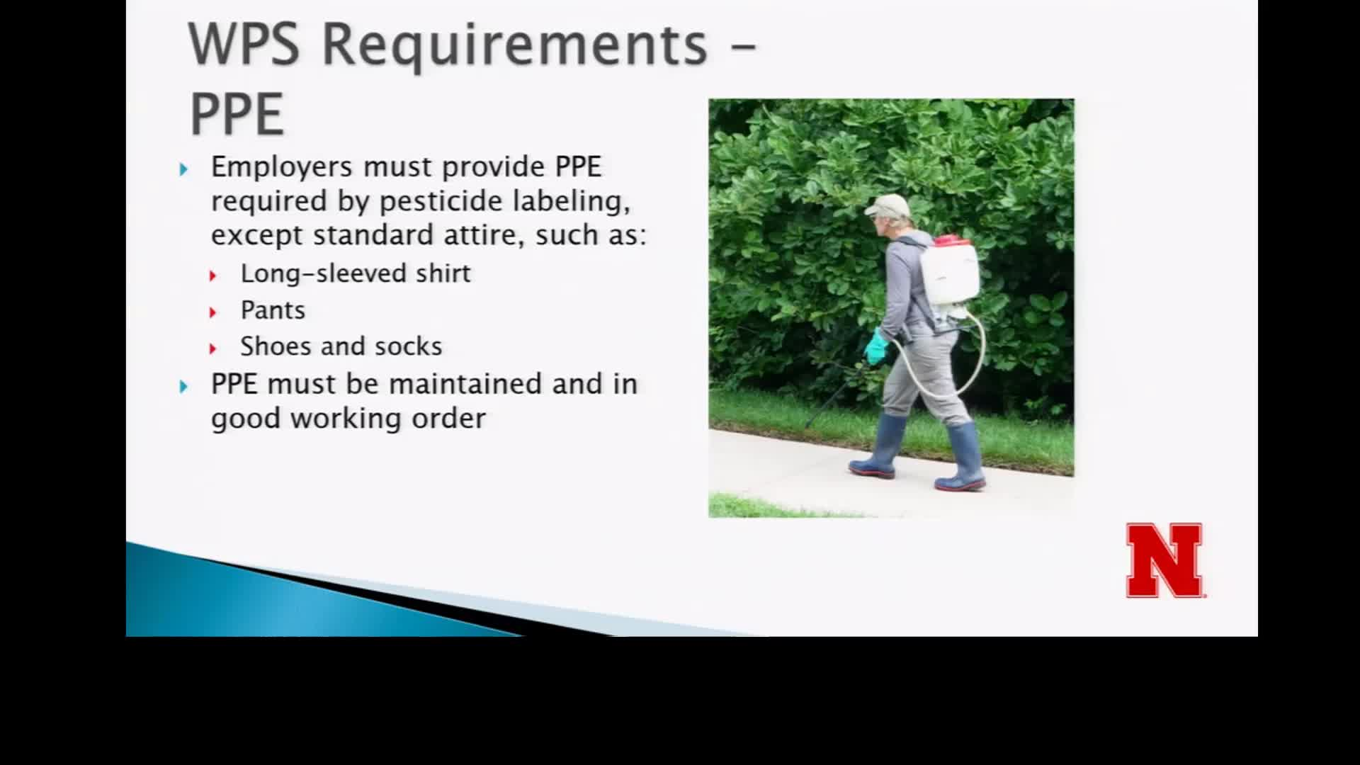 Worker Protection Standard Requirements for PPE