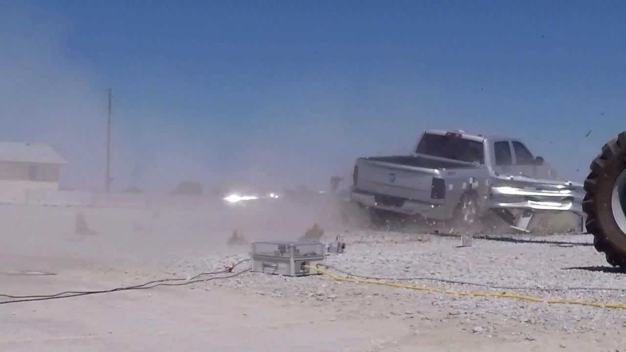 MwRSF Crash Test: Ground Level Behind