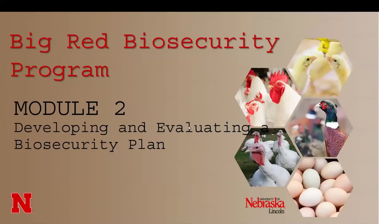 MODULE 2: Developing and evaluating a biosecurity plan