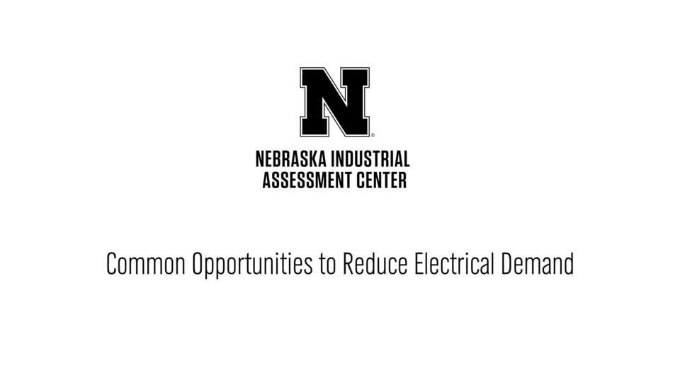 NIAC - Common Opportunities to Reduce Electrical Demand