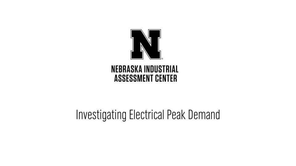 NIAC - Investigating Electrical Peak Demand.